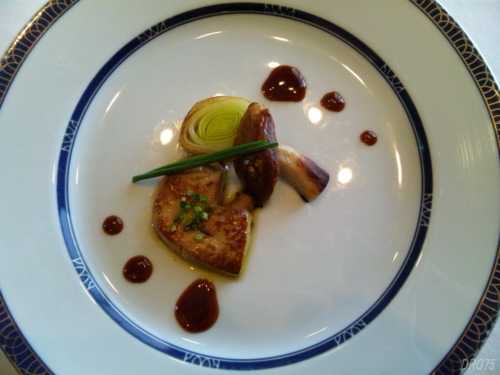 ホテル阪急インターナショナルマルメゾンの鴨フォアグラの温製・浅月葱風味