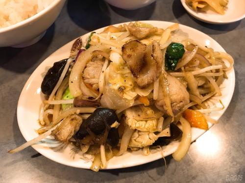 鳳林園の肉野菜炒め