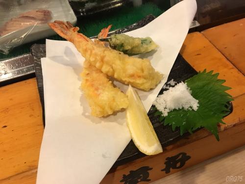 横浜西口の貴舟寿司の天ぷら