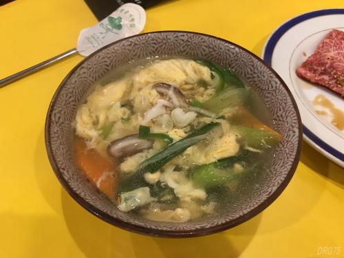 関内苑の玉子スープ